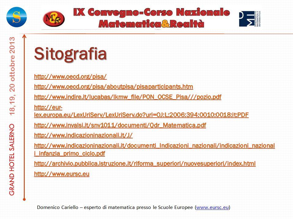 Sitografia http://www.oecd.org/pisa/