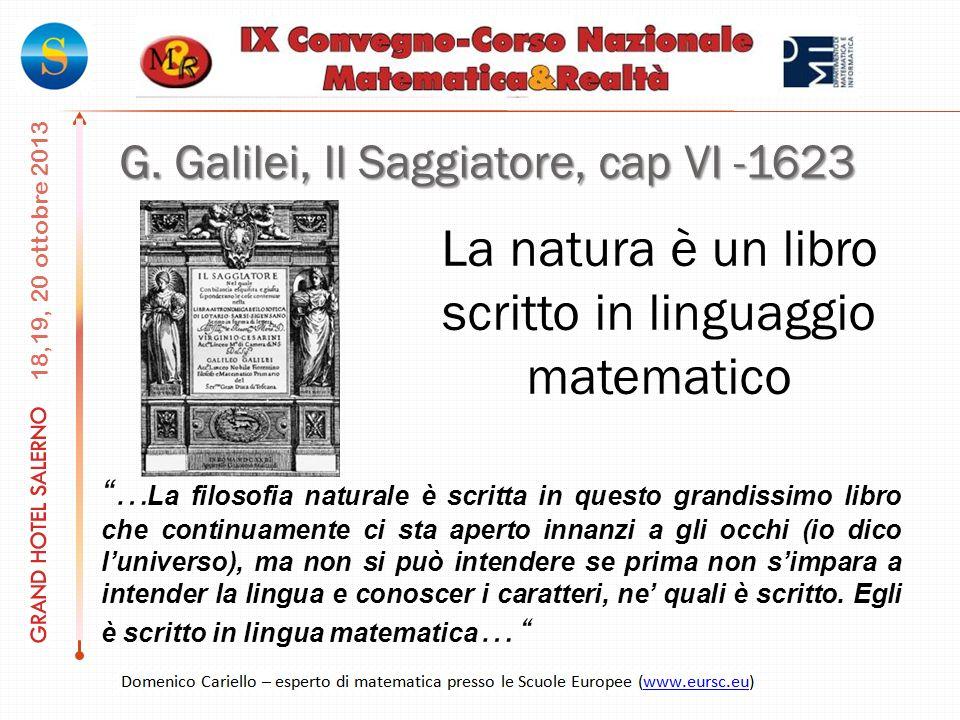 La natura è un libro scritto in linguaggio matematico