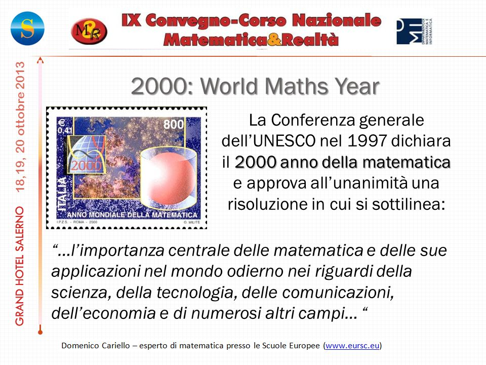 2000: World Maths Year