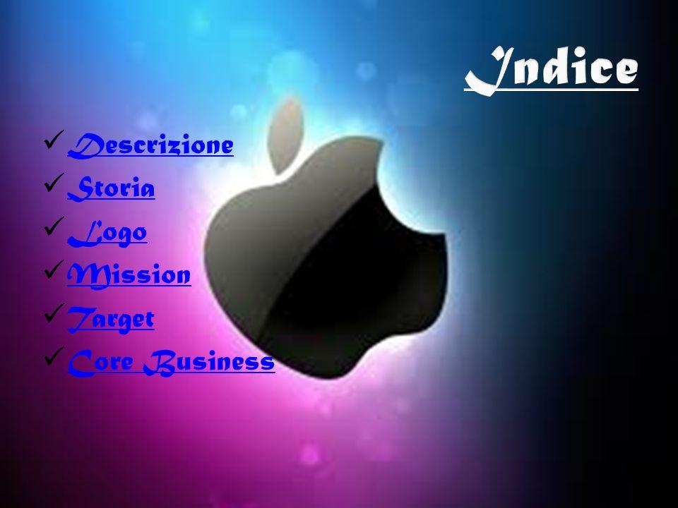 Indice Descrizione Storia Logo Mission Target Core Business