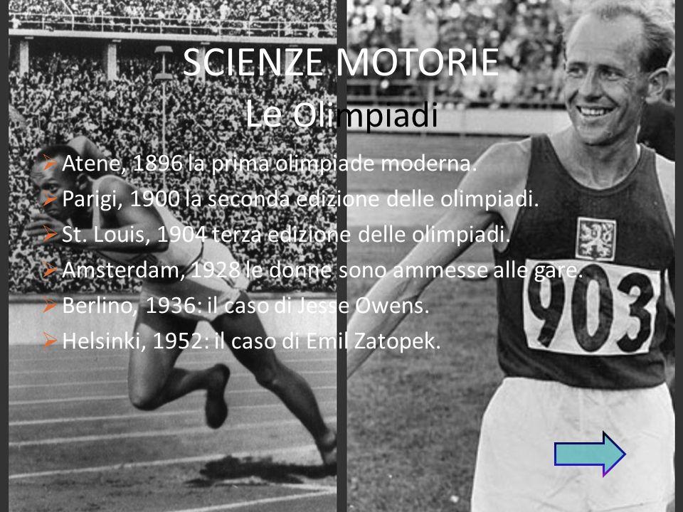 SCIENZE MOTORIE Le Olimpiadi
