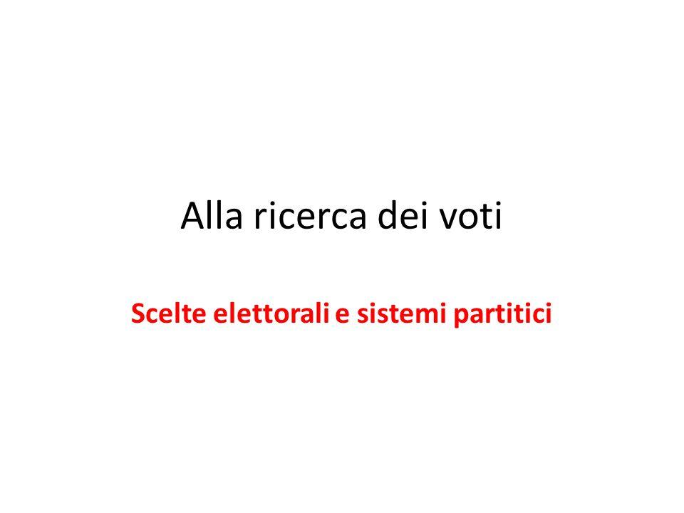 Scelte elettorali e sistemi partitici
