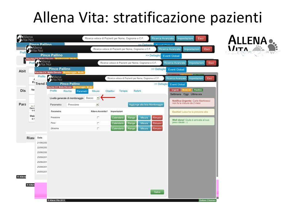 Allena Vita: stratificazione pazienti