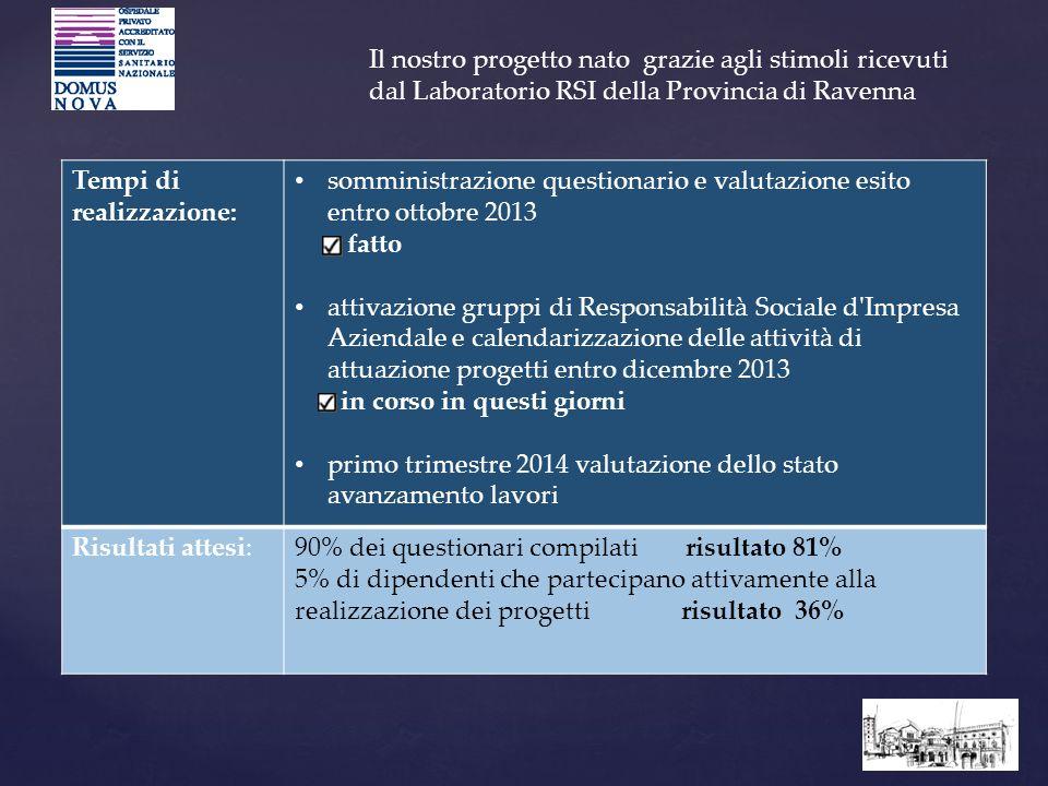 Il nostro progetto nato grazie agli stimoli ricevuti dal Laboratorio RSI della Provincia di Ravenna