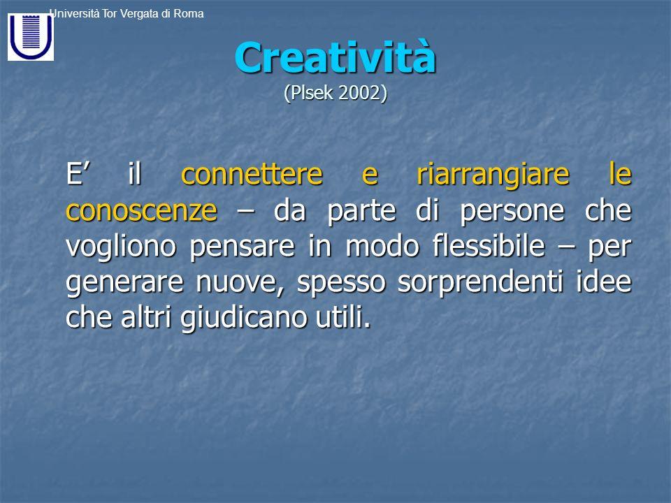 Creatività (Plsek 2002)