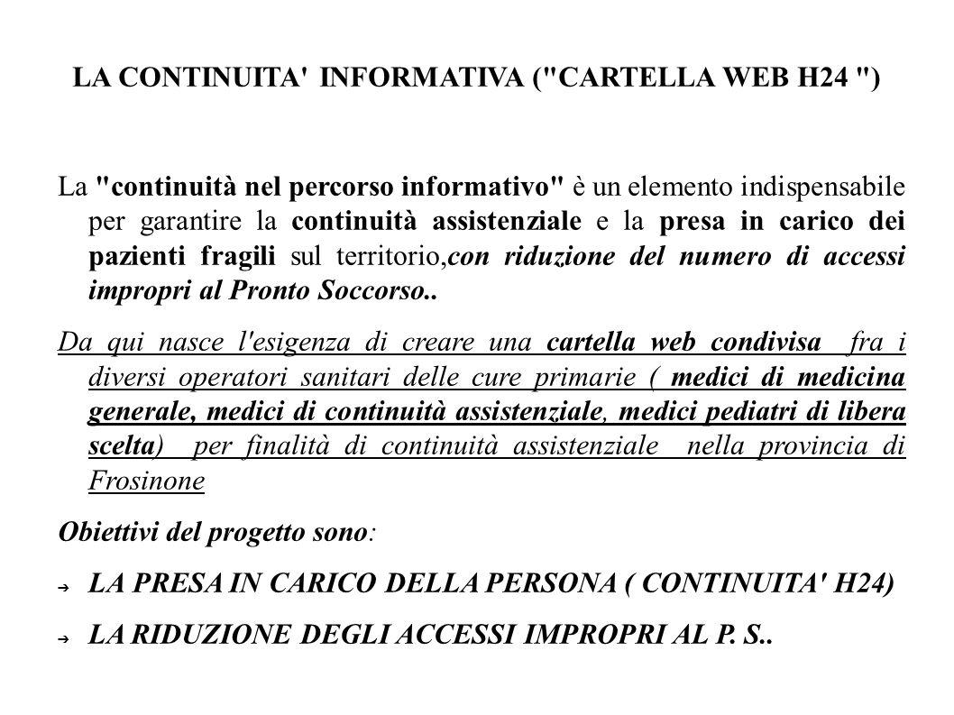 LA CONTINUITA INFORMATIVA ( CARTELLA WEB H24 )