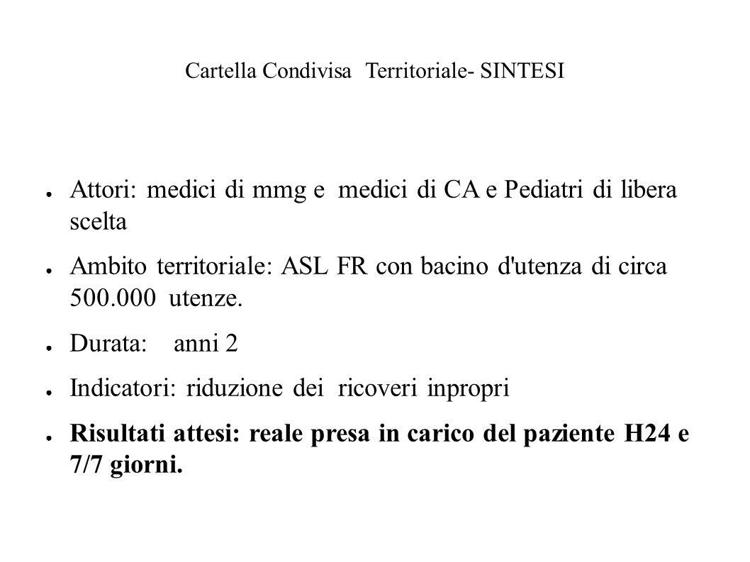 Cartella Condivisa Territoriale- SINTESI