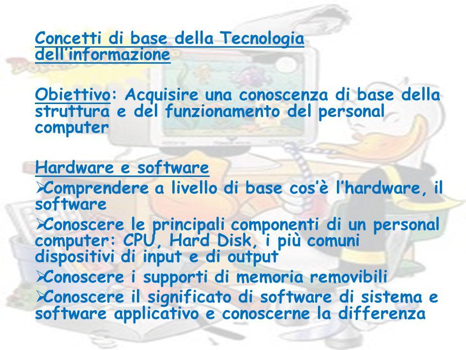 Concetti di base della Tecnologia dell'informazione