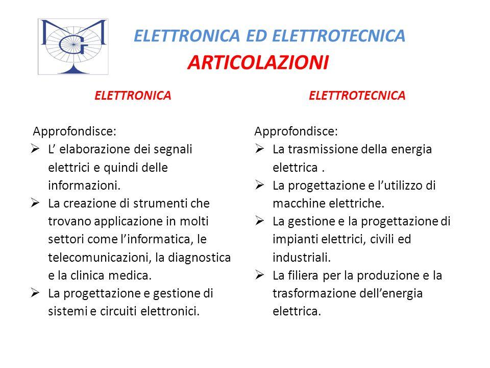ELETTRONICA ED ELETTROTECNICA ARTICOLAZIONI