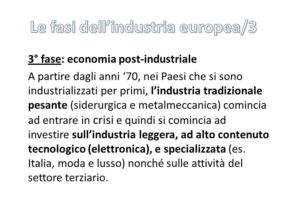 Le fasi dell'industria europea/3