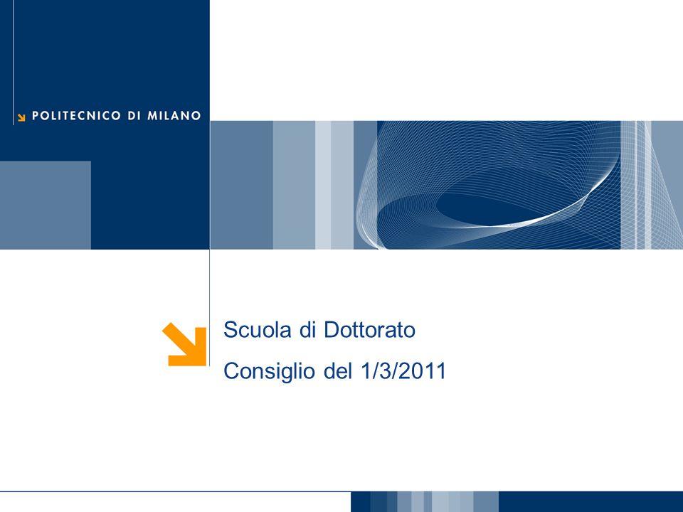 Scuola di Dottorato Consiglio del 1/3/2011