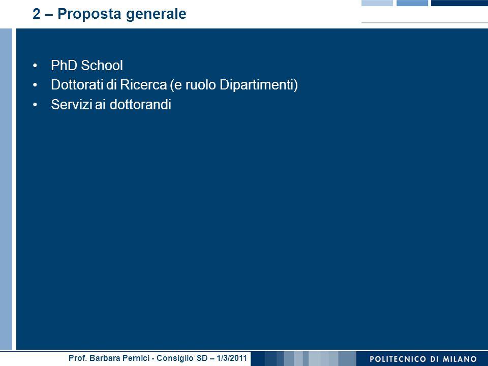 2 – Proposta generale PhD School
