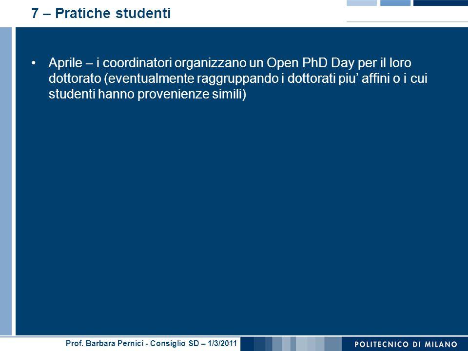 7 – Pratiche studenti