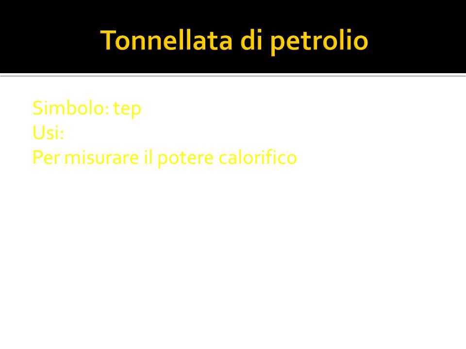 Tonnellata di petrolio