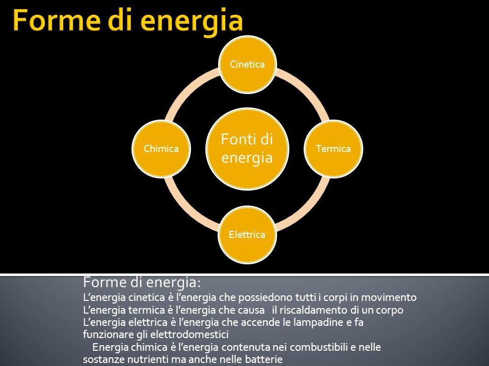 Forme di energia Forme di energia: