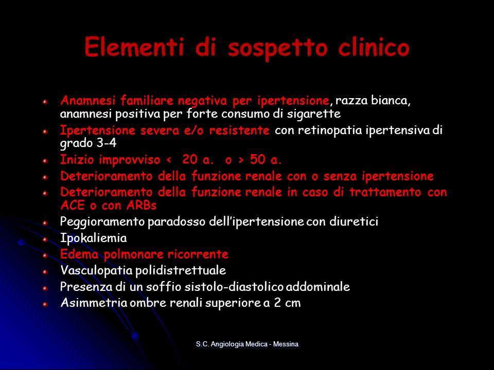 Elementi di sospetto clinico