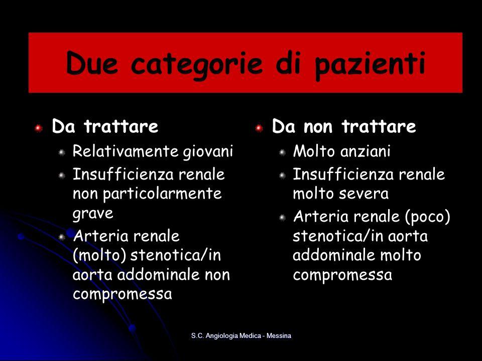 Due categorie di pazienti