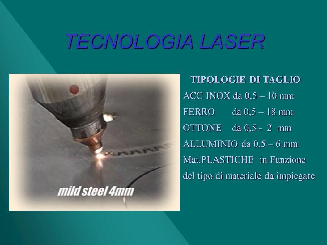 TECNOLOGIA LASER TIPOLOGIE DI TAGLIO ACC INOX da 0,5 – 10 mm