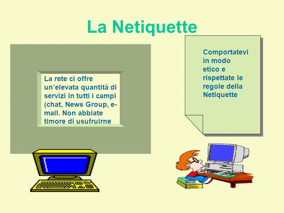 La Netiquette Comportatevi in modo etico e rispettate le regole della Netiquette.