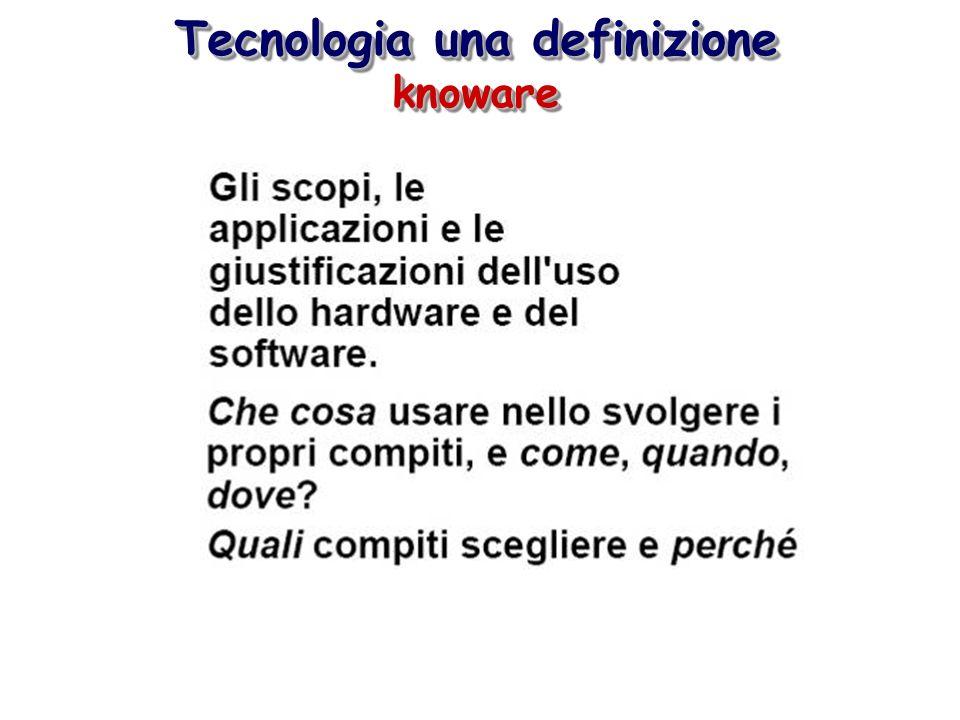 Tecnologia una definizione