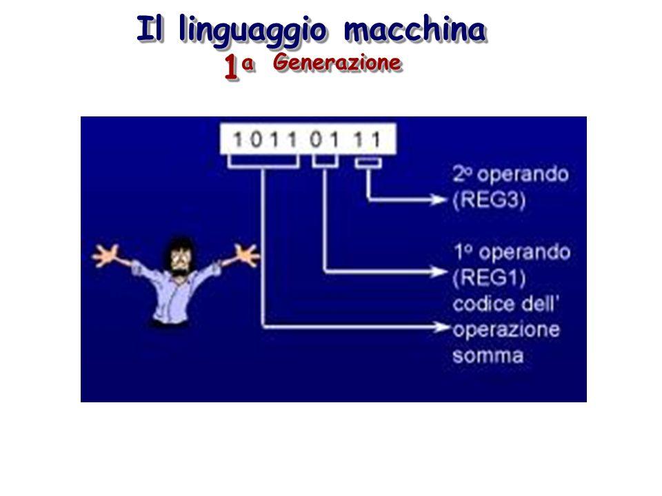 Il linguaggio macchina 1a Generazione