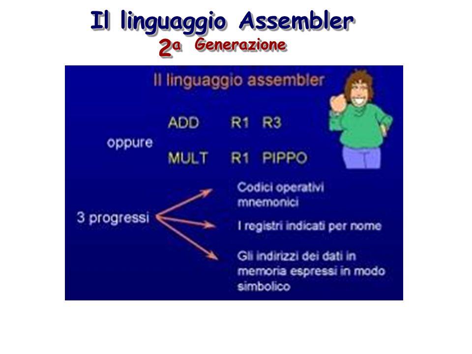 Il linguaggio Assembler 2a Generazione