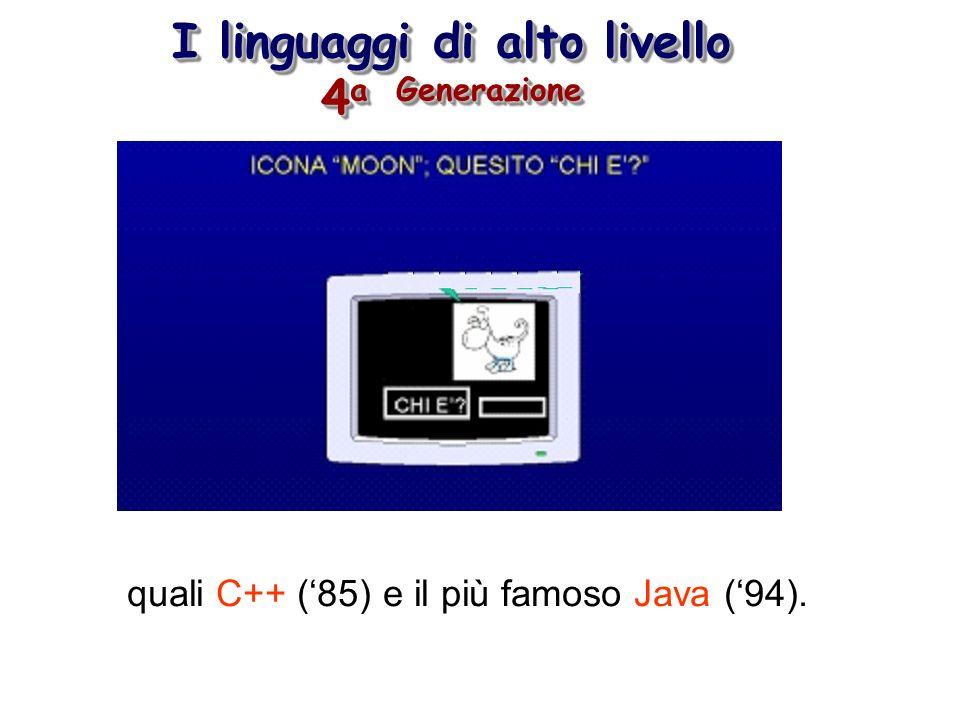I linguaggi di alto livello 4a Generazione