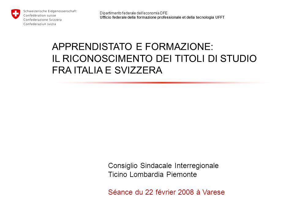 APPRENDISTATO E FORMAZIONE: IL RICONOSCIMENTO DEI TITOLI DI STUDIO