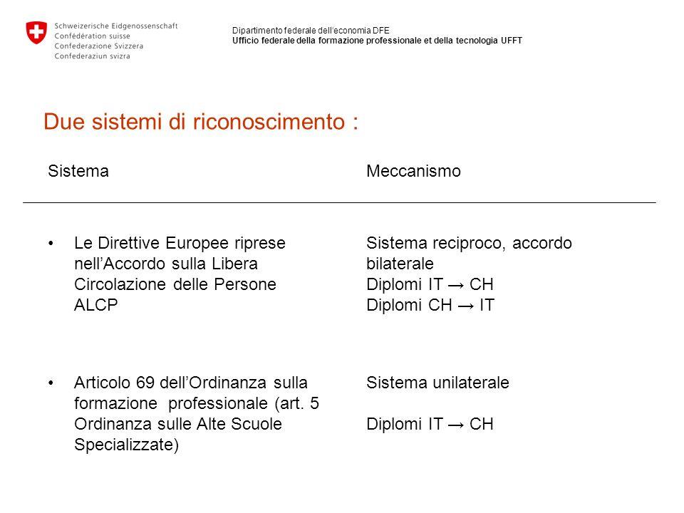 Due sistemi di riconoscimento :