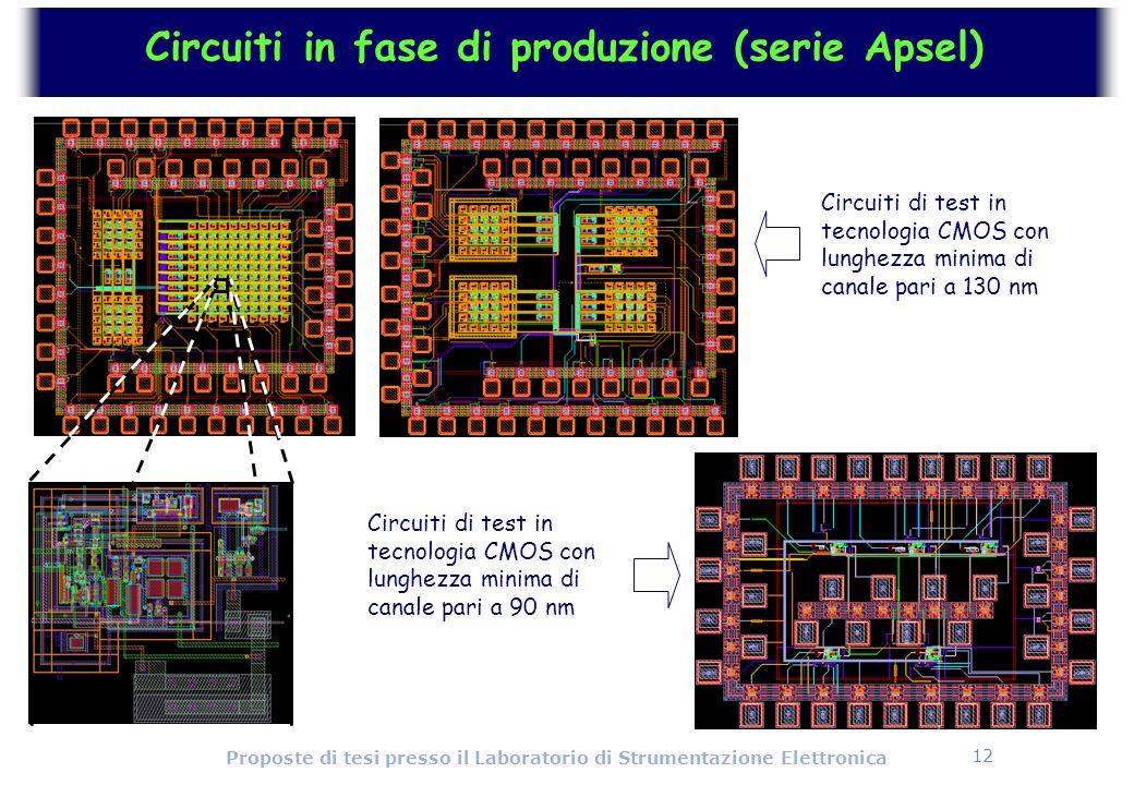 Circuiti in fase di produzione (serie Apsel)