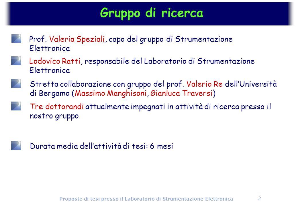 Gruppo di ricerca Prof. Valeria Speziali, capo del gruppo di Strumentazione Elettronica.