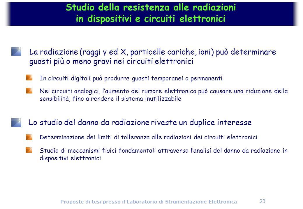 Studio della resistenza alle radiazioni