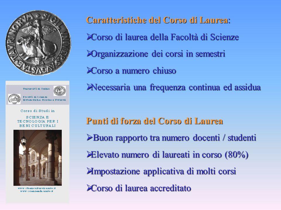 Caratteristiche del Corso di Laurea:
