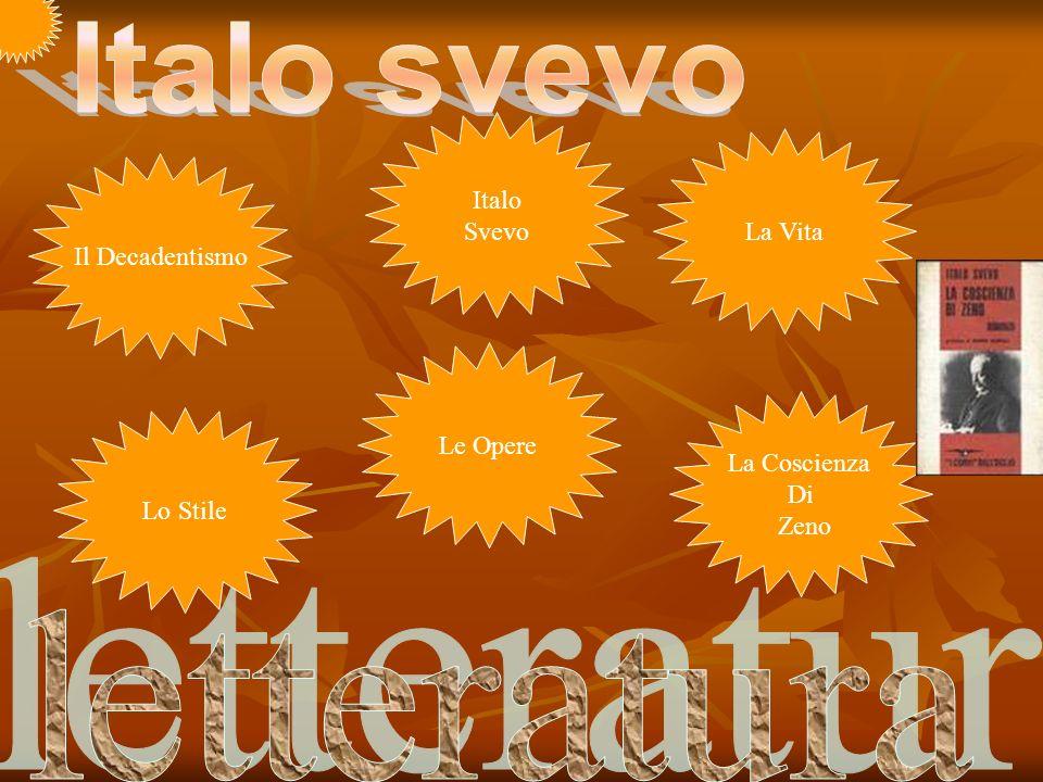 Italo svevo letteratura Italo Svevo La Vita Il Decadentismo Le Opere