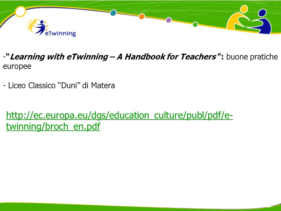 Learning with eTwinning – A Handbook for Teachers : buone pratiche europee