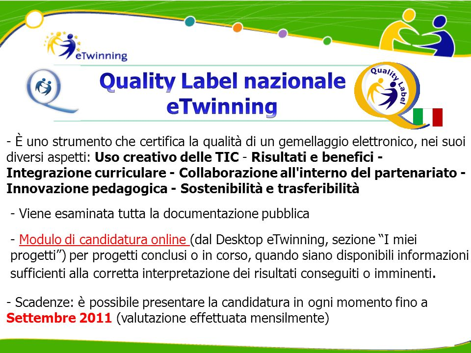 Quality Label nazionale eTwinning
