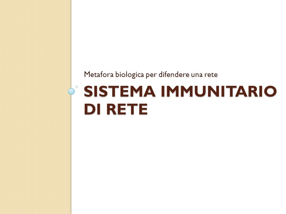 Sistema immunitario di rete