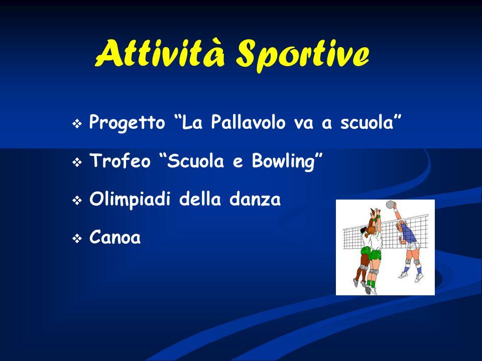 Attività Sportive Progetto La Pallavolo va a scuola