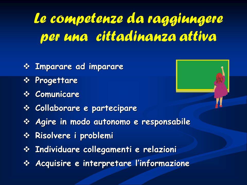 Le competenze da raggiungere per una cittadinanza attiva