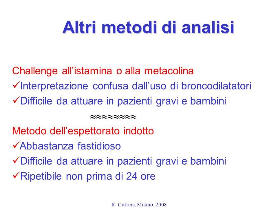 Altri metodi di analisi
