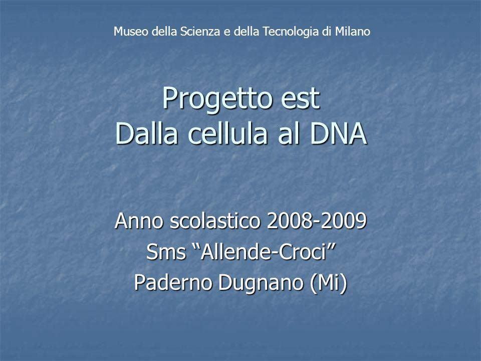 Progetto est Dalla cellula al DNA