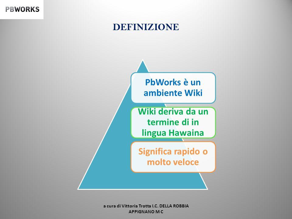 PbWorks è un ambiente Wiki