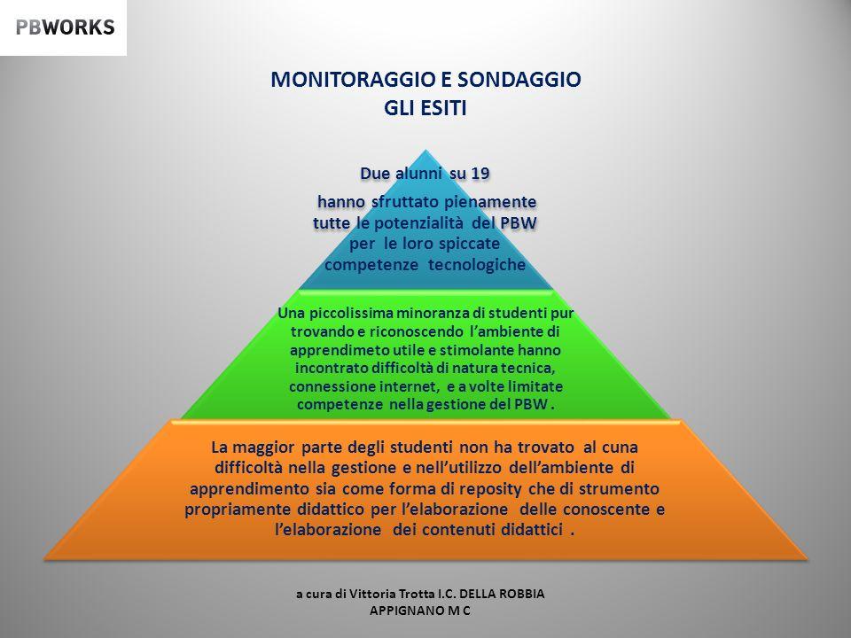 MONITORAGGIO E SONDAGGIO GLI ESITI