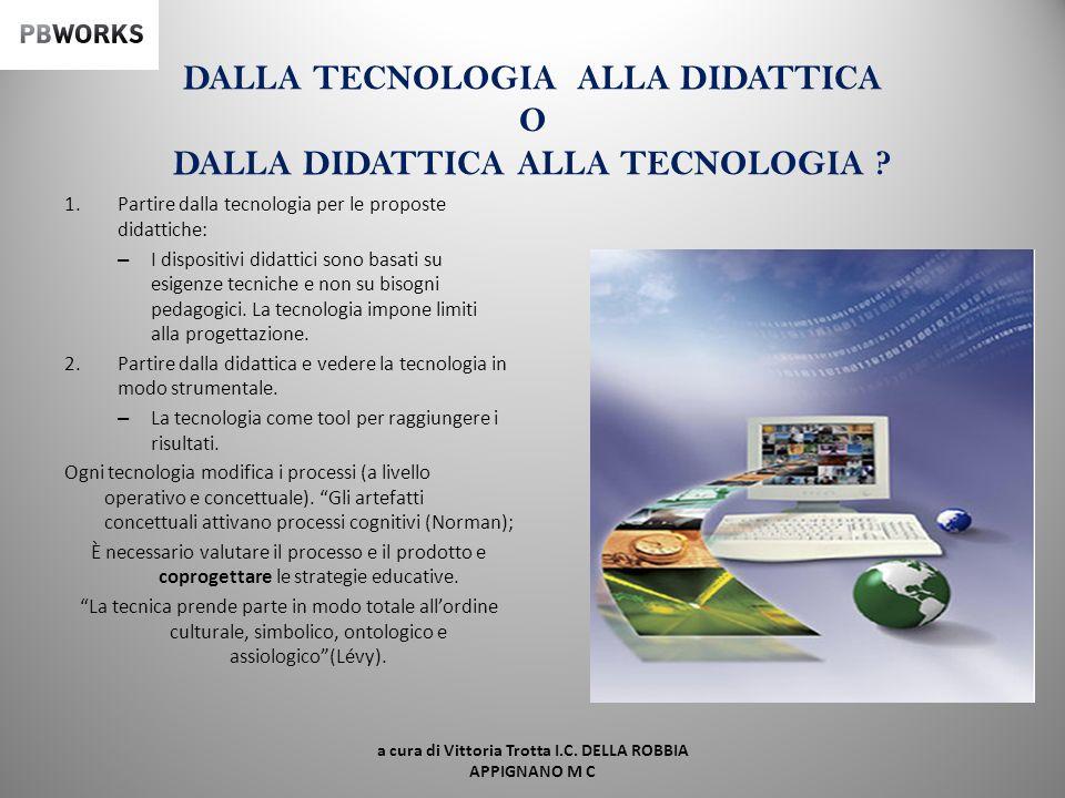 DALLA TECNOLOGIA ALLA DIDATTICA O DALLA DIDATTICA ALLA TECNOLOGIA