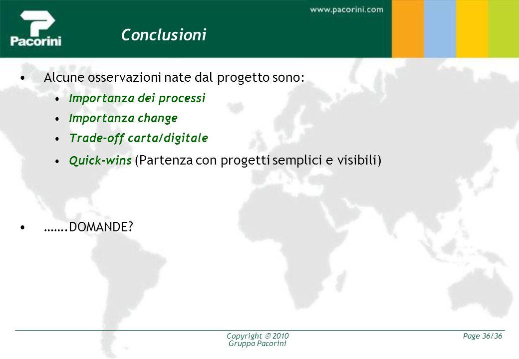 Conclusioni Alcune osservazioni nate dal progetto sono: …….DOMANDE