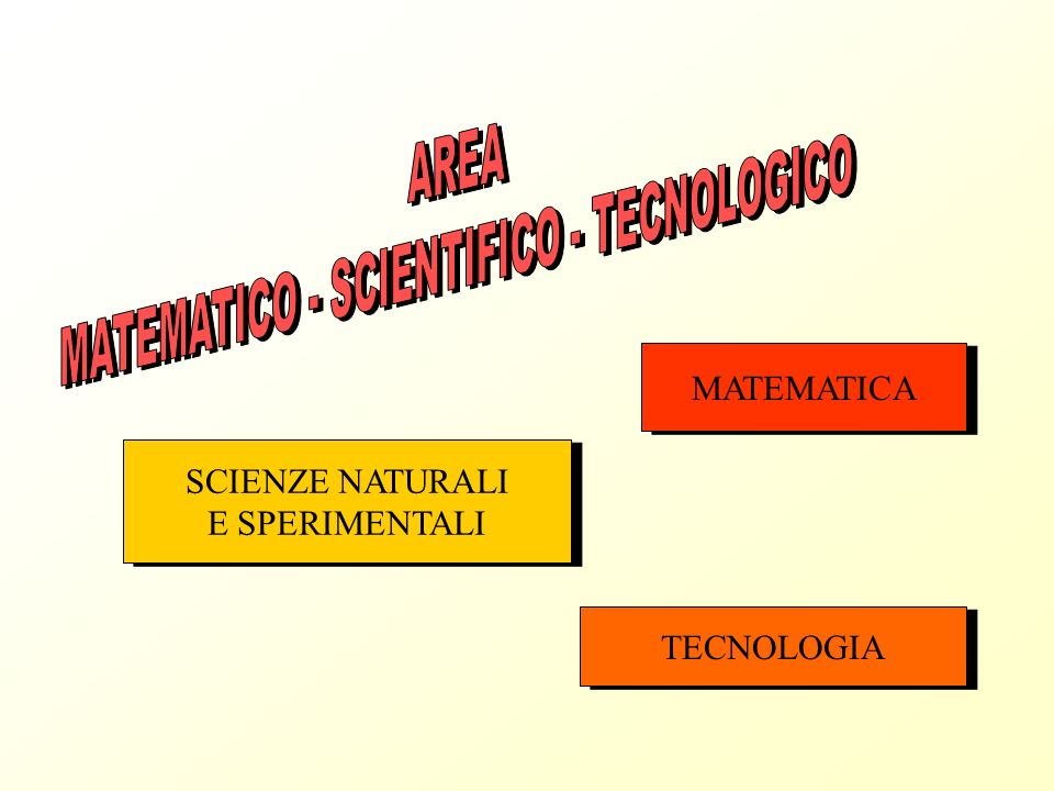 MATEMATICO - SCIENTIFICO - TECNOLOGICO