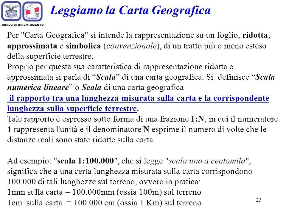 Leggiamo la Carta Geografica
