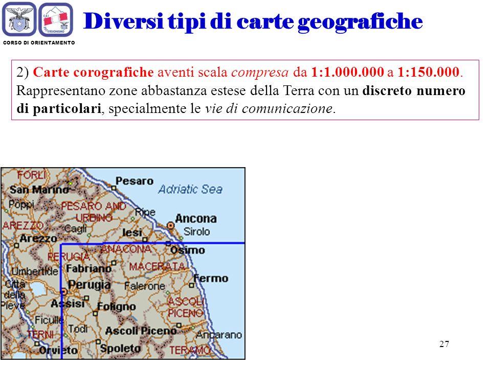 Corso di orientamento club alpino italiano ppt scaricare - I diversi tipi di carta ...