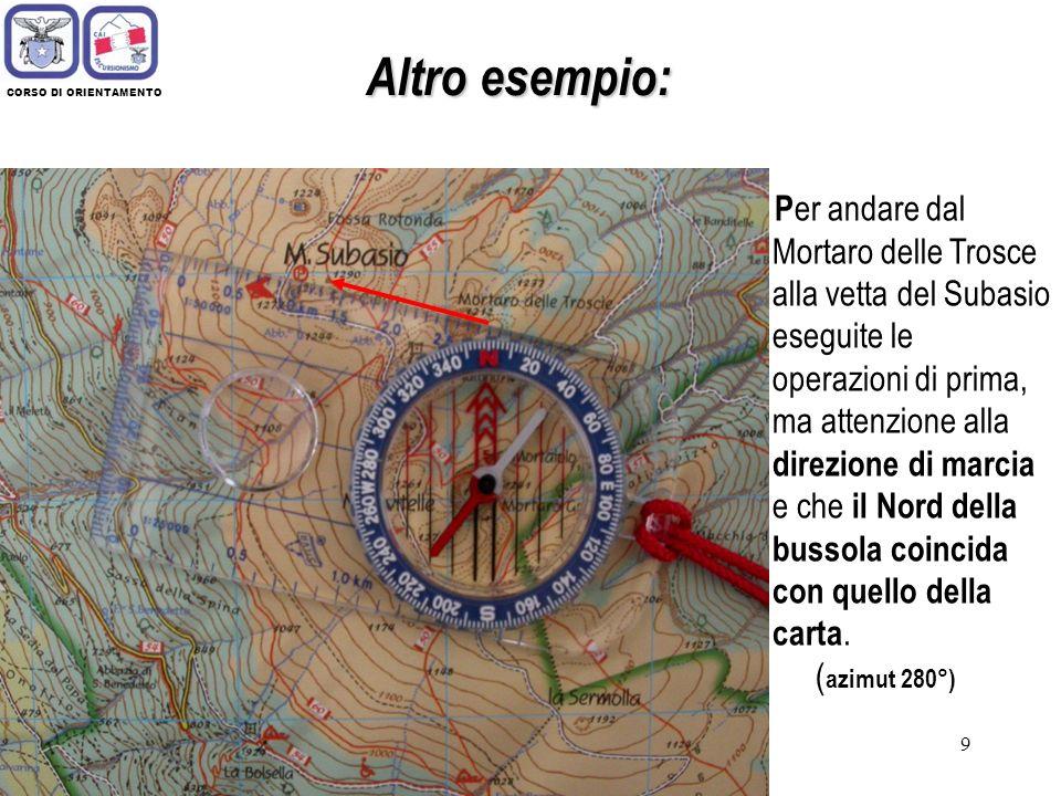 Altro esempio: CORSO DI ORIENTAMENTO.