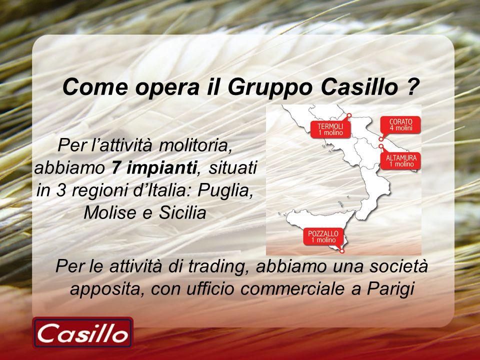 Come opera il Gruppo Casillo